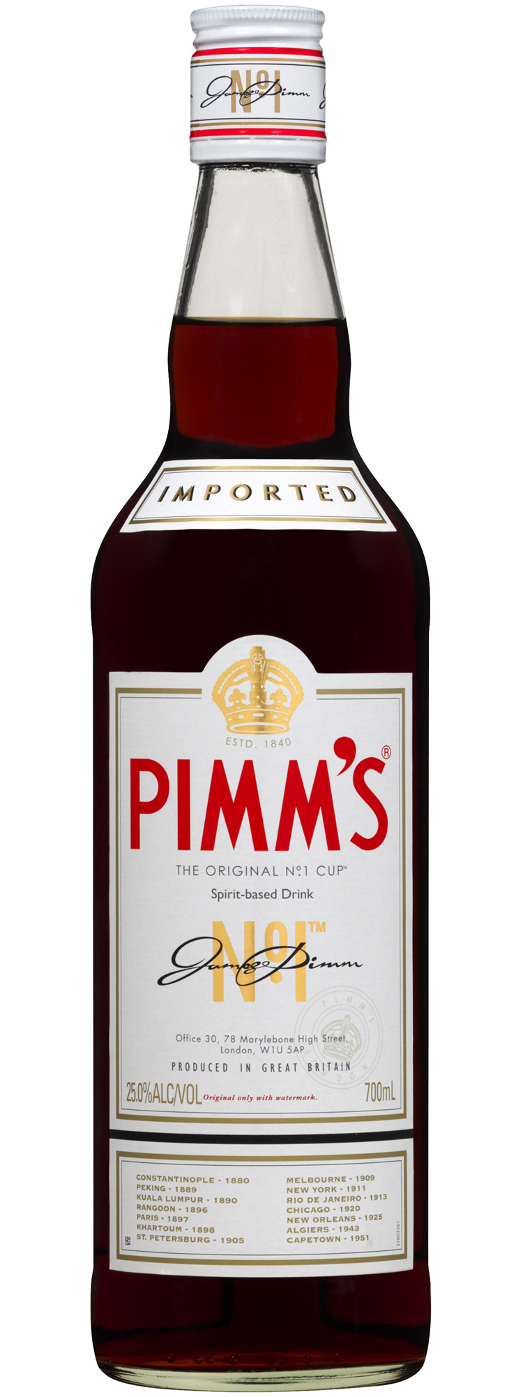 Pimm 39 s no 1 cup 70cl vini e capricci for What to mix with pimms