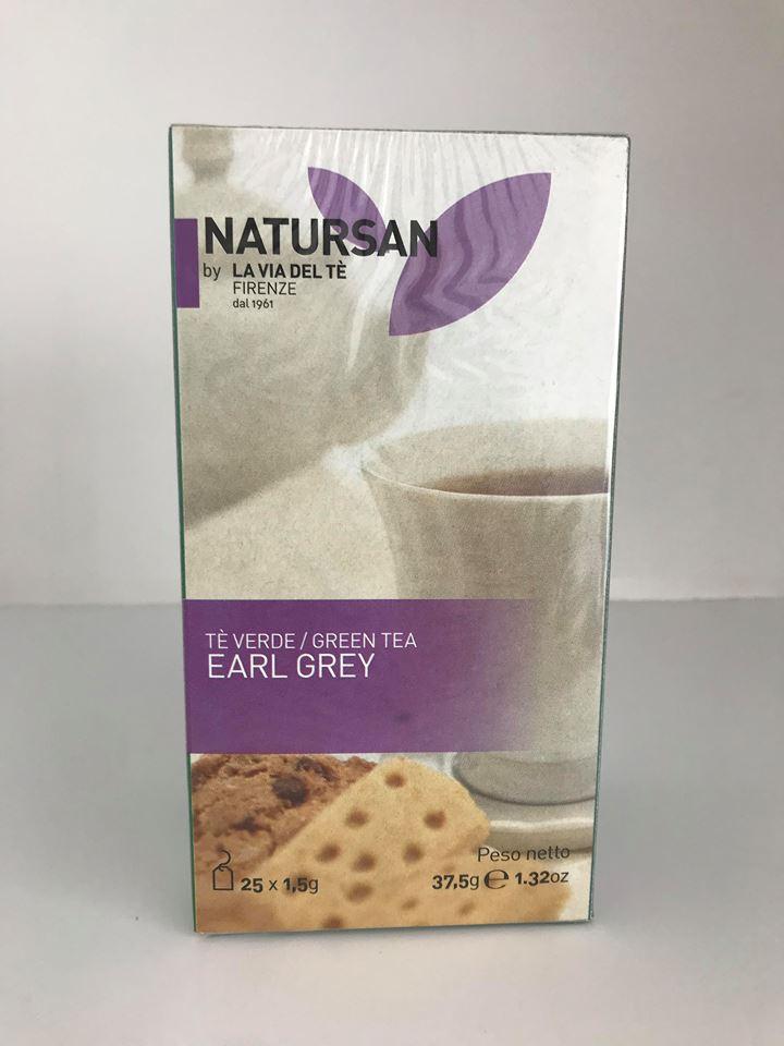 Natursan - La Via Del Tè   Green Tea - Earl Grey 37 5g