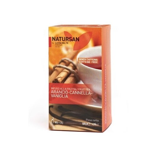 Natursan - La Via Del Tè | Fruit Tea - Arancio-Cannella-Vaniglia 50g